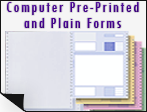 computer pre printed